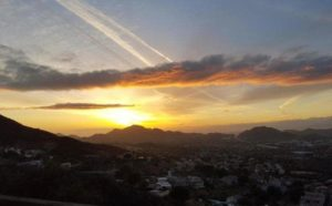 Sunset views of Conejo Valley and Newbury Park property management service area.